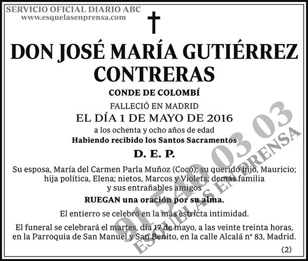 José María Gutiérrez Contreras
